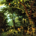Jan Brueghel the Younger. The paradise, 1620 ca. Oil on canvas. Gemäldegalerie, Berlin