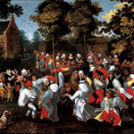 Marten van Cleve. Wedding dance, ca 1570-1580. Oil on canvas, cm. 81.5 x 112.5. Joseph and Mild Guttmann, New York
