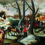 Marten van Cleve. Winter Landscape with the murder of the Innocents, 1570 ca. Private collection, Belgium