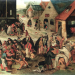 Pieter Brueghel the Younger. The seven works of mercy, 1616 - 1618 ca. Oil on canvas, cm. 44 x 57.5. Private collection, Brussels