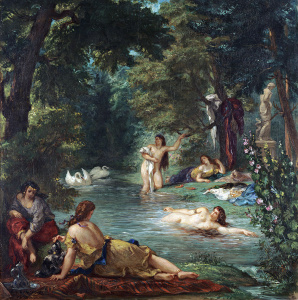 Eugène Delacroix. Bathers, 1854. Oil on canvas, cm. 92.7 x 77.5. © Wadsworth Atheneum Museum of Art, Hartford, Connecticut. The Ella Gallup Sumner and Mary Catlin Sumner Collection Fund, 1952