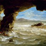 Eugène Delacroix. Shipwreck off a Coast, 1862. Oil on canvas, cm. 38.1 × 45.1. © The Museum of Fine Arts, Houston, Texas / Bridgeman Images