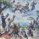 Eugène Delacroix. Paul Cézanne. Apotheosis of Delacroix, 1890-94. Oil on canvas, cm. 27 x 35. © RMN-Grand Palais (musée d'Orsay) / Hervé Lewandowski