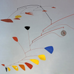 Alexander Calder. Gong red yellow and blue, 1951. Painted sheet metal and wire, cm 135 x 220 x 170. Venice, International Gallery of Modern Art, Ca 'Pesaro. Donated by the artist, 1952