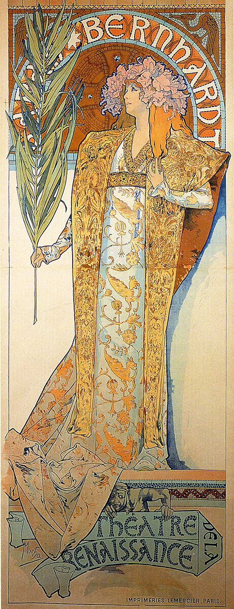Alfons Mucha - Madonna of the lilies - 1905-detail-Photo-katarte