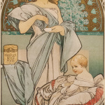 Alfons Mucha - Poster for Nestle food for infants - Coloured lithography - Photo Katarte