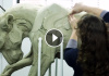 Beth Cavener - Working on her sculptures