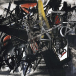 Emilio Vedova. Image of Time (Barrage), 1951. Egg tempera on canvas, cm 130.5 x 170.4. Venice, the Peggy Guggenheim Collection