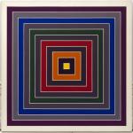 Frank Stella. Mixture of gray, 1968 - 1969. Oil painting on canvas. Venice, Solomon R. Guggenheim Foundation. Legacy Hannelore B. Schulhof, 2012. Ph. David Heald © Frank Stella, by SIAE 2016