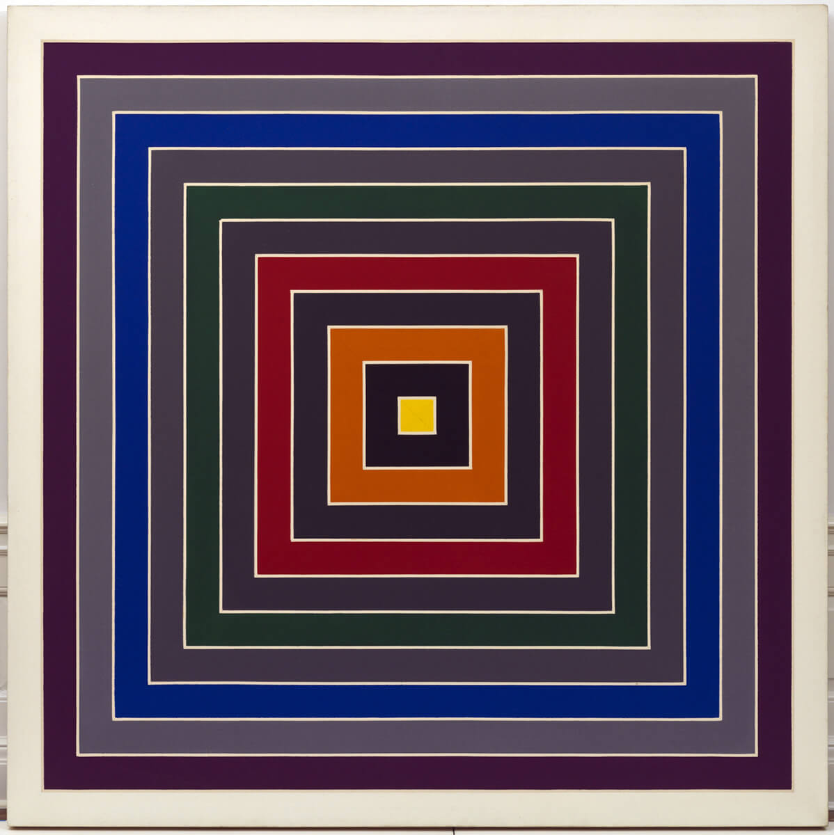 frank stella mixture of gray 1968 1969 oil painting on canvas
