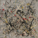 Jackson Pollock. Number 18, 1950. Oil and enamel on masonite, cm 56 x 56.7. New York, Solomon R. Guggenheim Museum. Donation, Janet C. Hauck
