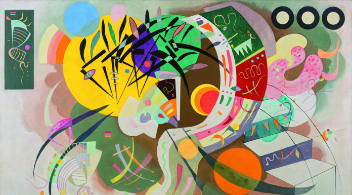 Wassily Kandinsky. Dominant curve, 1936. Oil on canvas. Solomon R. Guggenheim Museum. Solomon R. Guggenheim Founding Collection, New York / Ph. Kristopher McKay