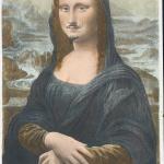 Marcel Duchamp. L.H.O.O.Q. 1919. Rectified ready-made, pencil in a reproduction of Leonardo da Vinci's Mona Lisa, chromolithograph, cm 19,7×12,4. Private Collection