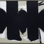 Robert Motherwell. Elegy to the Spanish Republic n. 110, 1971. Acrylic, graphite and charcoal on canvas, cm 208.3 x 289.6. New York, Solomon R. Guggenheim Museum. Donation, Agnes Gund