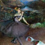 Edgar Degas. Dancer with bouquets. 1895-1900. Oil on canvas, cm 180,3x152,4. Credit. Gift of Walter P. Chrysler, Jr., in memory of Della Viola Forker Chrysler
