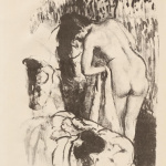 Edgar Degas. Nude Woman Standing, drying herself, 1891–92. Lithograph, transfer from monotype, crayon, tusche, and scraping, cm 33 x 24.5. Credit: Purchase, Mr. and Mrs.Douglas Dillon Gift, 1972