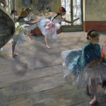 Edgar Degas. Ballet staged rehearsal, 1874. Oil on canvas 65x81 cm. Orsay Museum, Paris