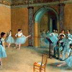 Edgar Degas. The dance foyer at the Opera, 1872. Orsay Museum, Paris