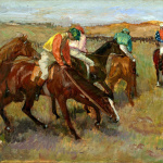Edgar Degas. Before the race, c. 1882 cm 34.9 x 26.5. Sterling and Francine Clark Art Institute Williamstown (MA)