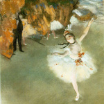 Edgar Degas. The Star, 1878. Pastel on paper, cm 60 x 44. Orsay Museum, Paris