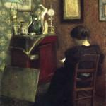 Henri Matisse - Donna che legge, 1894. Olio su tavola, cm. 61,5 X 48. Centre Georges Pompidou, Parigi