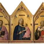 Giotto. Polyptych of Badia, 1295-1300. Tempera and gold on wood. Church of Badia. Uffizi Gallery, Florence