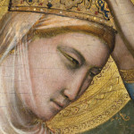 Giotto. Polyptych Baroncelli. Coronation of the Virgin, detail