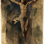 Pablo Picasso. Christ crucifixion, 1896-1897.Oil and charcoal on paper, cm. 73,5 x 54,4. Gift of Pablo Picasso, 1970, Picasso Museum/Gasull © Succession Picasso, by SIAE 2015.
