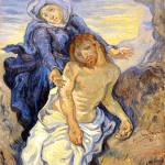 Vincent van Gogh. Compassion (from Delacroix) 1890 ca. Oil on canvas, cm. 41,5x34. Vatican City, Vatican museums - Direction of Museums. Photo: © Katarte.net