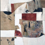 Alberto Burri. White hunchbacked, 1953, cm. 100.7 × 87. Cloth, oil, sawdust, pumice on canvas extraflexed. Palazzo Albizzini Foundation, Burri Collection. Citta di Castello, Italy