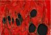 Alberto Burri. Red plastic, 1963. Acrylic and burned plastic on canvas, cm. 102 x 90. © Palazzo Albizzini Foundation, Burri Collection, Città di Castello, Italy