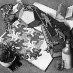 Escher. Reptiles, 1943. Lithography