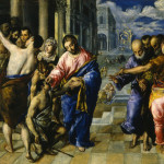 El Greco - Healing of the Blind, oil on canvas - 1573-1574