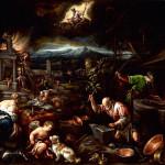 Jacopo Bassano - Allegory of fire, smithy of Volcano, 1580 - 1581 ca.