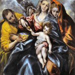 El Greco - The Holy Family with St. Mary Magdalene - 1595