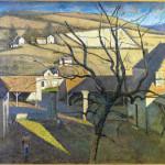 Balthus. Great landscape to the tree, 1960. Oil on canvas, cm. 130,5 x 162. Gift of André et Henriette Gomes, 1985. Centre Pompidou National Museum of Modern Art, Paris