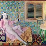 Balthus. The Turkish Room, 1963 - 1966. Casein and tempera on canvas, cm. 180 x 210. Centre Pompidou, Paris © Balthus © Mondadori Portfolio / Leemage / Photo Josse