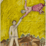 The walk, 1919. Gouache, watercolor and graphite on paper, cm. 32 × 23. Credits: The Israel Museum, Jerusalem Chagall © ® by SIAE 2015