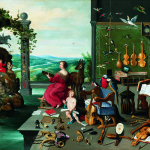Jan Brueghel the Younger. Allegory hearing, ca. 1645-1650. Oil on canvas, cm. 57 × 82,5. Collection Diana Kreuger, Geneva