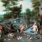 Jan Brueghel the Younger. Allegory of smell, ca. 1645-1650 Oil on canvas, cm. 57 x 82.5. Collection Diana Kreuger, Geneva