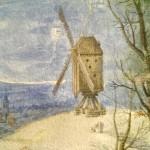Jan Brueghel the Younger. On market street in winter, 1625