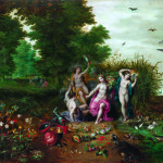 Jan Brueghel the Younger and Hendrick van Balen. Allegory of four Elements, 1595 - 1600. Private Collection