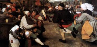Pieter Bruegel the Elder. The peasant dance, 1568 ca.(detail)