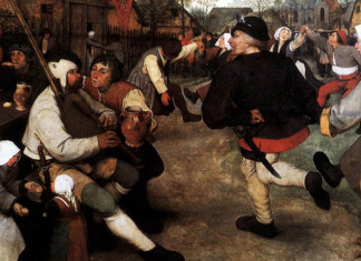 Pieter Bruegel the Elder. The peasant dance, 1568 ca.(detail)