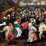 Pieter Brueghel the Younger. Wedding dance outdoors, in 1610 ca. Oil on canvas, cm. 74.2 x 94. Private collection, U.S.A.