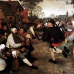 Pieter Bruegel the Elder. Dance of the farmers, 1568 ca. Oil on canvas, cm. 114 × 164. Museum of the History of Art, Wien