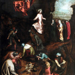 Pieter Brueghel the Elder and Workshop. The Resurrection, 1563 ca. Oil on canvas, cm. 107 x 73.8. Private collection, Belgium