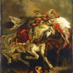 Eugène Delacroix. Combat of the Giaour and Hassan, 1835. Oil on canvas, cm. 73.7 x 61. Petit Palais, Musée des Beaux-Arts of the City of Paris - © Roger-Viollet / REX