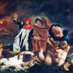 Eugène Delacroix. The Boat of Dante, 1822. Oil on canvas, cm. 189 x 246. Louvre museum, Paris