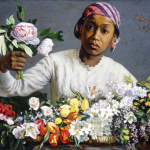 Frédéric Bazill. Young Woman with Peonies, 1870 Oil on canvas, cm. 60 × 75. National Gallery of Art, Washington, DC. Collection of Mr. and Mrs. Paul Mellon 1983. Image courtesy of the Board of Trustees